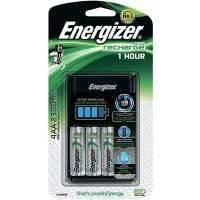 Зарядное устройство + аккумуляторы Energizer 1HR Charger + 4шт. AA 2300mAh (E300697700) черный