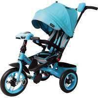 Велосипед Moby Kids3кол. с разворотным сиденьем Leader 360° 12x10 AIR Car, бирюз.