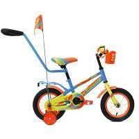 """Двухколёсный велосипед Forward """"Meteor"""" 12, голубой/зеленый"""