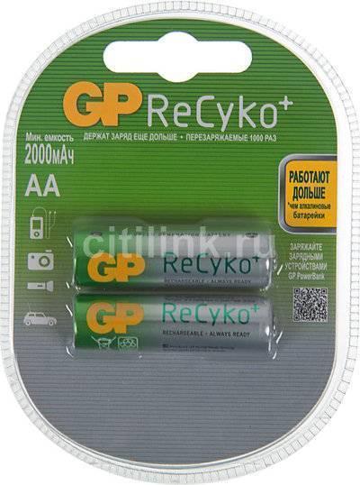 Аккумулятор GP Recyko 210AAHCB 2 шт. AA 2000мAч 210AAHCB-UC2