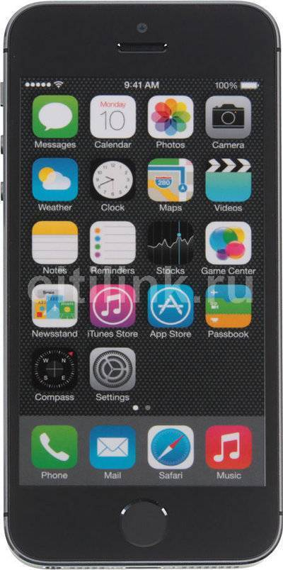 Смартфон APPLE iPhone 5s 16Gb серый ME432RU/A