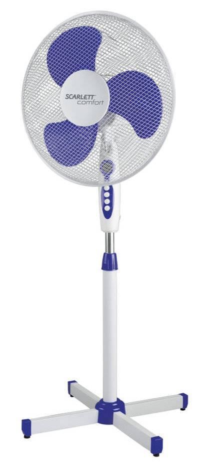 Вентилятор напольный SCARLETT белый и голубой SC - SF111B11