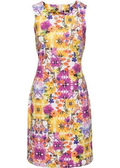 Цветочное платье (белый/желтый/розовый в цветочек) bonprix (90688495) для женщин купить за 2590 руб в Самаре, отзывы, видео обзоры и характеристики