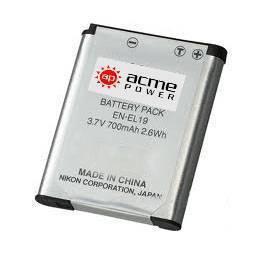 Аккумуляторы для фото и видеокамер AcmePower EN-EL19 для Nikon S2500/ S3100/ S4100