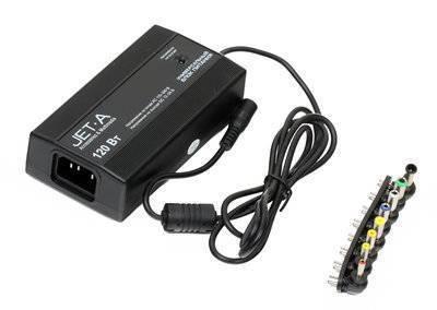 Универсальный адаптер питания для ноутбуков и цифровых устройств 120Вт Jet.A Tesler с питанием от сети (встроенный USB порт) JA-PA8