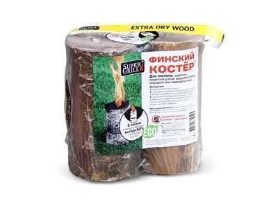 Полено финский костер 2шт. Supergrill