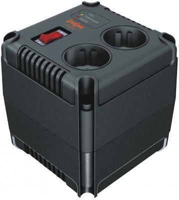 Стабилизатор напряжения Exegate черный 2 розетки EP259012RUS Power AD-1000