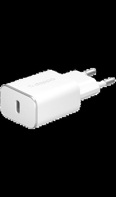 Зарядное устройство сетевое Deppa Type-C (белое) Зарядное устройство сетевое Type-C (белое)