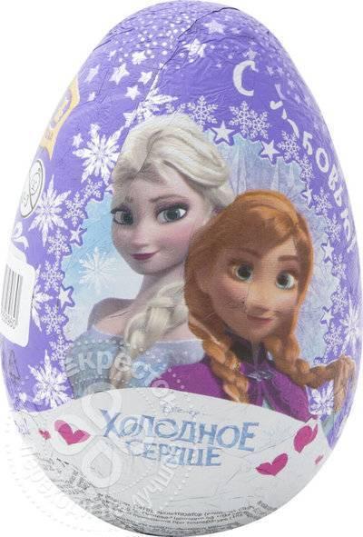 Яйцо с игрушкой-сюрпризом Шоки Токи Холодное сердце шоколадное 70г