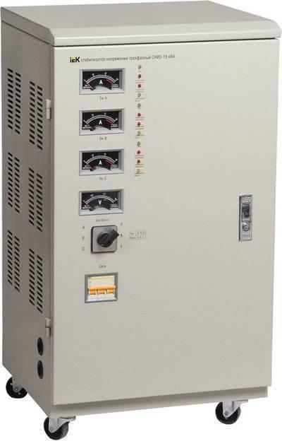 IVS10-3-30000 Стабилизатор напряжения СНИ3-30 кВА трехфазный IEK