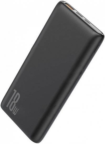Аккумулятор внешний Baseus 10000mAh 18W PD+QC Quick Charge Portable Power Bank - Black