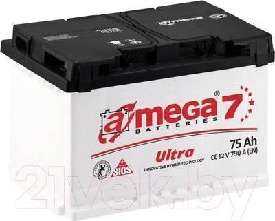 Автомобильный аккумулятор A-mega Ultra 75 R (75 А/ч)