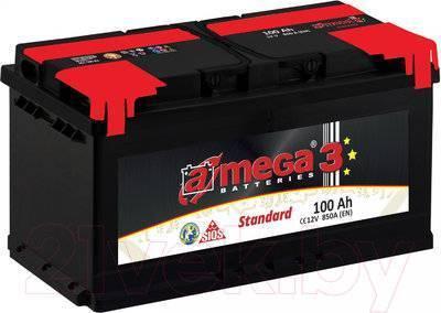 Автомобильный аккумулятор A-mega Standard 100 L (100 А/ч)