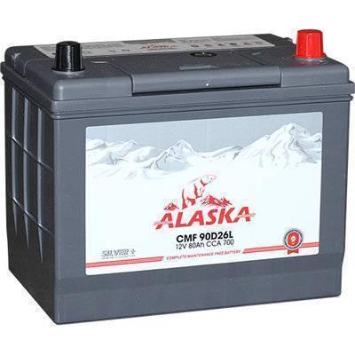 ALASKA CMF (80А/ч о/п) 90D26L silver+