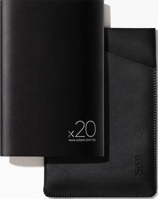 Внешний аккумулятор Xiaomi SOLOVE 20000mAh с кожаным чехлом (A8-2 Black)