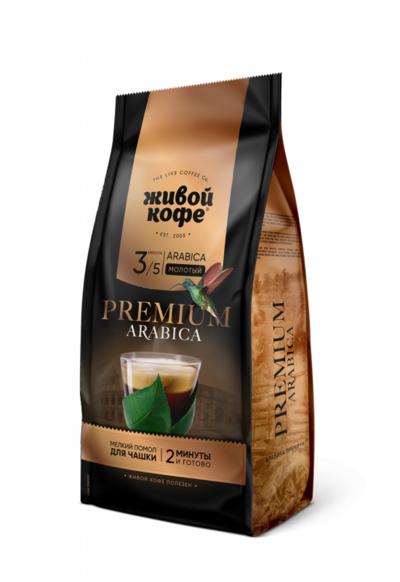 Кофе Живой Кофе Арабика Премиум для чашки 200г