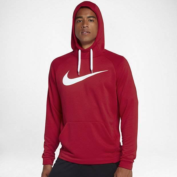 9498b85a Мужская худи для тренинга Nike Dry (Красный) (885818-657) купить от ...